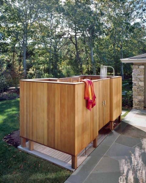 backyard shower outdoor