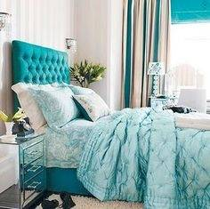 turquoise and black room decor