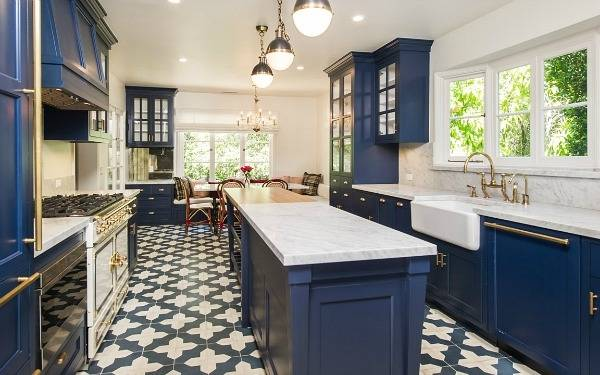 Fascinating Idea Navy Blue Kitchen Ideas Pleasant Idea Navy Blue Kitchen Ideas Navy Kitchen Cabinets Classy Idea Having A Moment And White