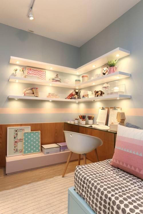 girls bedroom wall shelves awesome bedrooms ideas shelving idea