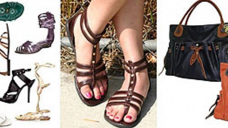 Fall fashion colors range from camel to bright purple to metalic