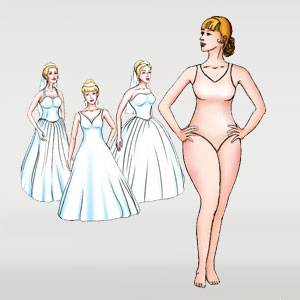 What's your body type? Determine it with DaVinci's Style Guide! Spaghetti  strap Aire Barcelona wedding dress