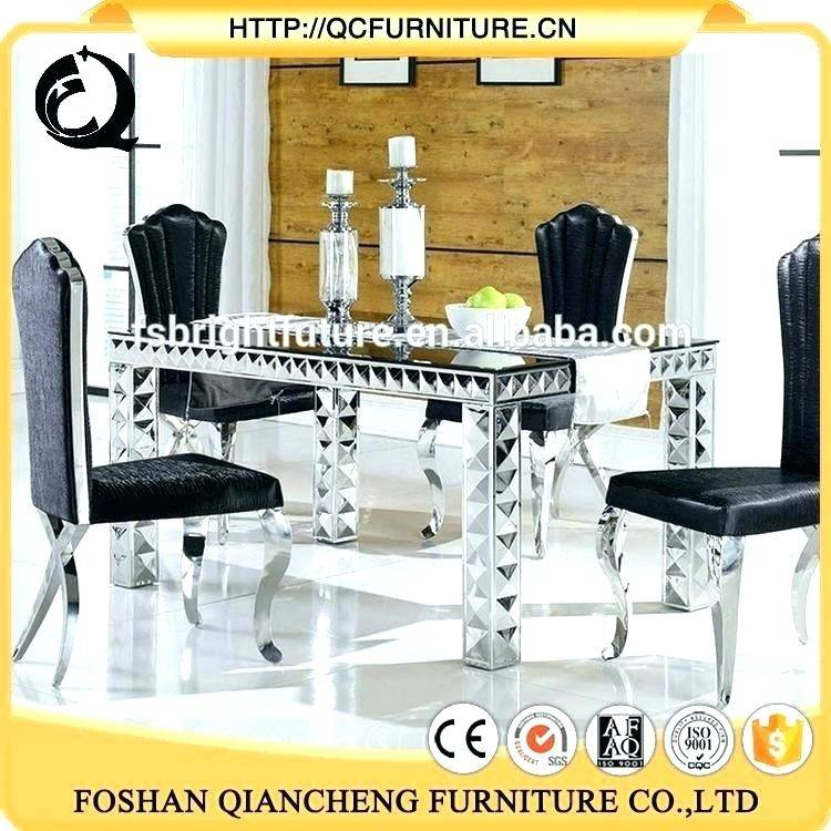 Wonderful Contemporary Rectangle White Glass Vernished Dining Room Sets  Modern With Stainlees Lamp Beautiful Painting