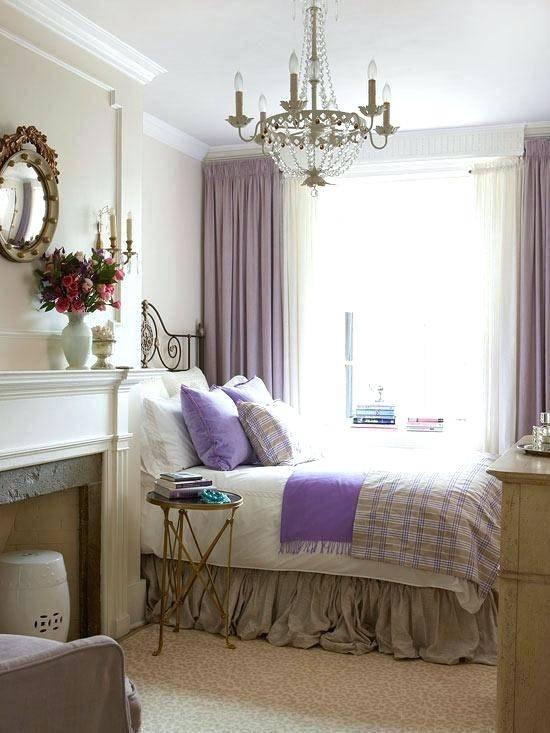 Dark And Light Purple Walls Bedroom Ideas Single Bed On Furniture