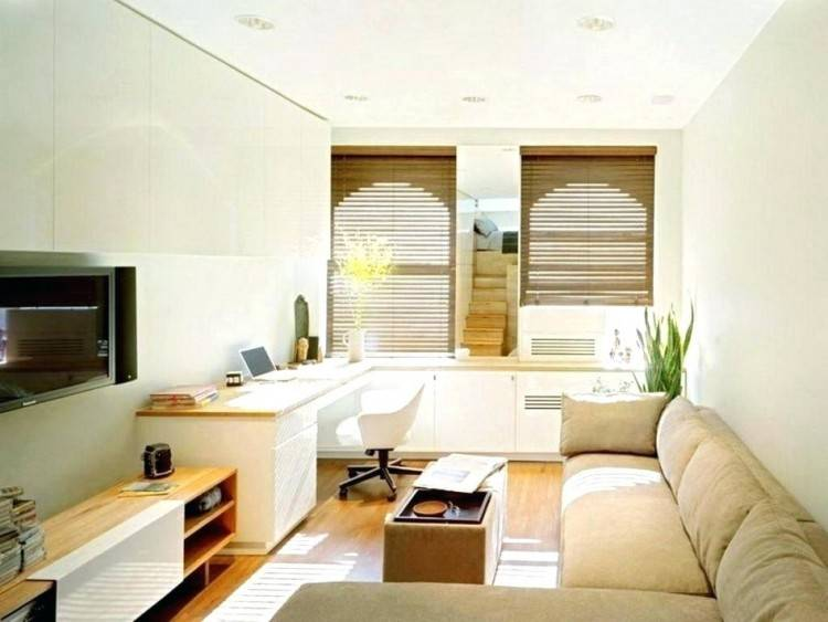 Living Room And Office Design Small