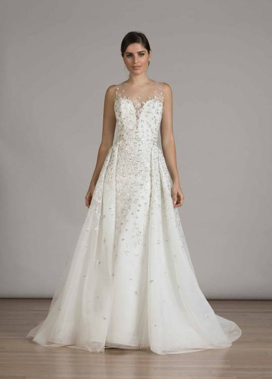 2016 New Wedding Dresses Detachable Train Applique Lace Half Sleeve Bridal Gown Bow Lace Up Lace Wedding Dress Online with $128