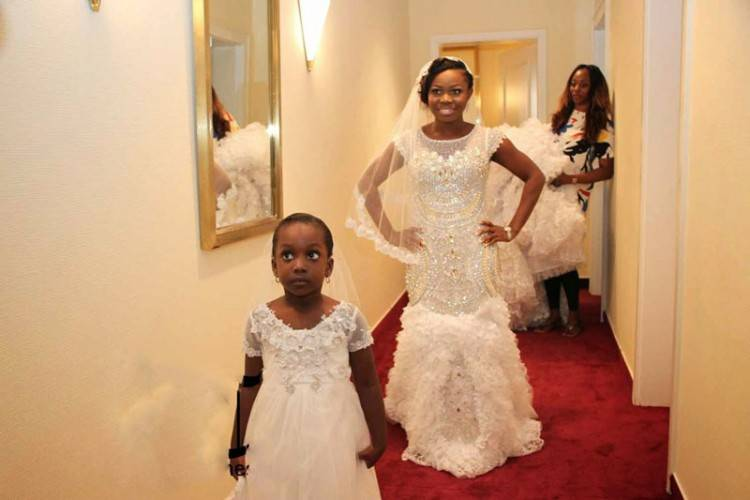 2017 Bling Wedding Dress Nigerian Dresses High Neck Illusion Long Sleeves  Crystals Beads Sequins Lace Appliques Mermaid Bridal Gowns Inexpensive  Wedding