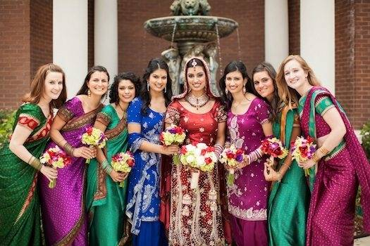 Traditional Indian wedding dresses include an elite collection of bridal  dresses, embroided sarees, zari sarees and gem embellished wear that come  in