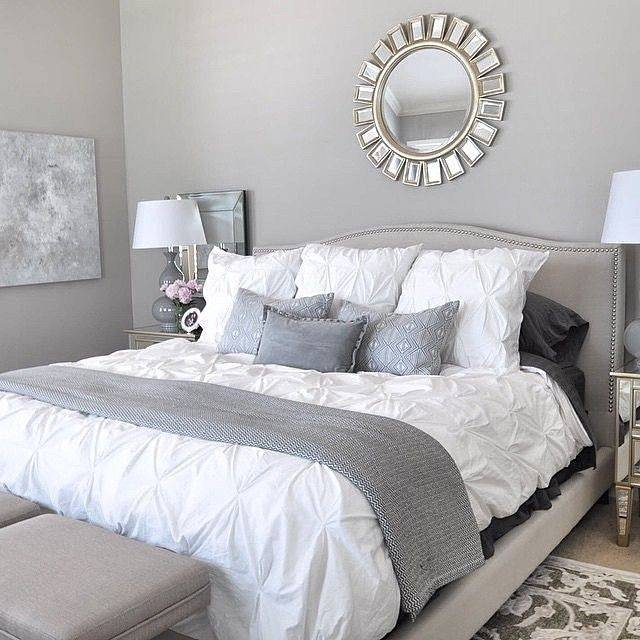Elegant gray bedroom White Bedroom Decor