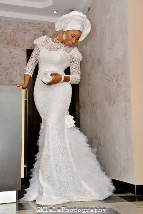 We especially love the Bella Naija bridal train dresses for their regal  look that makes every happy bride feel like a fairytale princess