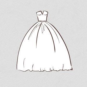 Wedding dresses silhouette set