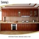 teak wood kitchen cabinets modern cupboards trinidad new