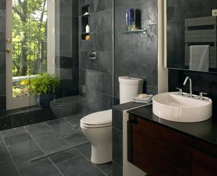 stone bathroom decor