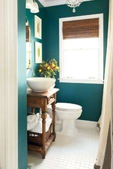 Simple Teal Bathroom Idea I Would Love Black And White In Our New House We Used Thi Color Dining Room Now Want It The Tile Paint Orange Blue Green Silver