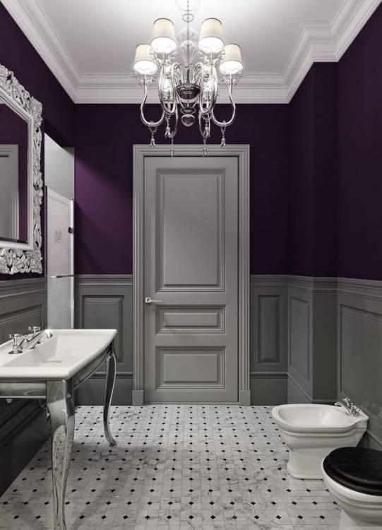 Purple Bathrooms