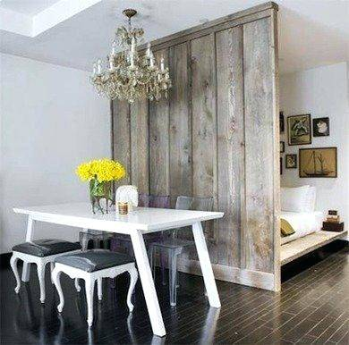 short room divider ideas white and wood dining room
