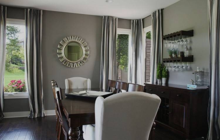 fancy traditional dining room color ideas with