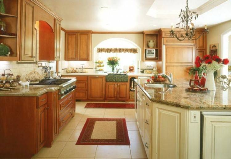 Foxy Kitchen Decoration Using Various Red Paint For Kitchen Ideas :  Exciting Small Kitchen Decoration Using
