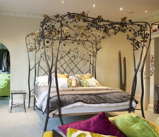 Lighting Inspiration Medium size Vintage Bedroom Ideas With Stylish Fairy Lights And Metal Bed Rustic Shabby