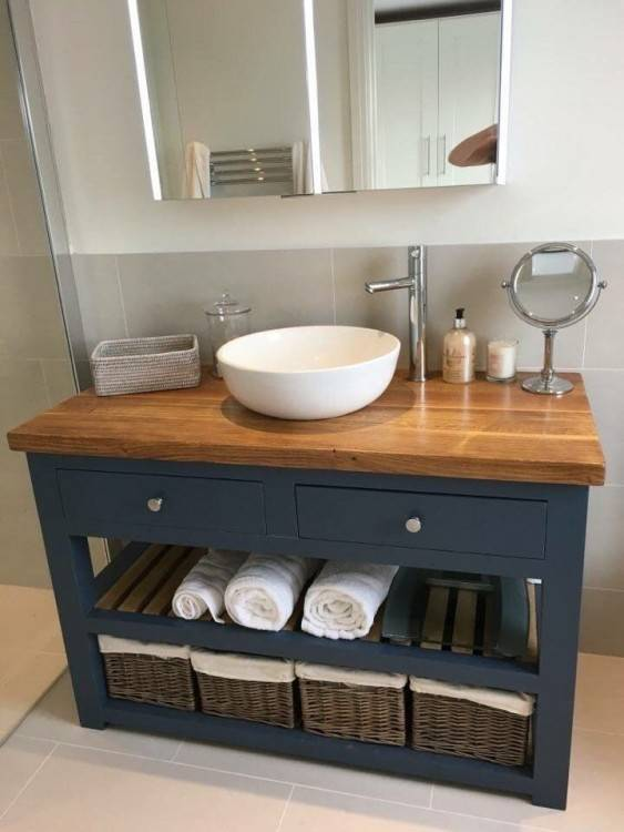 Wall hung bathroom furniture is fantastic at opening up the footprint in your bathroom
