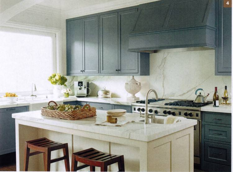 Cabinet color  is 'White Dove' by Benjamin Moore Paints