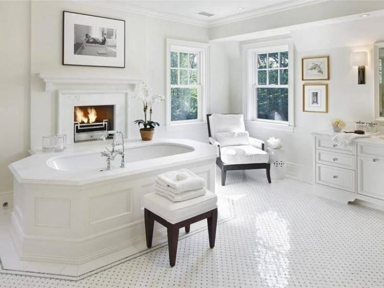 [Bathroom Design] White Bathroom Marble