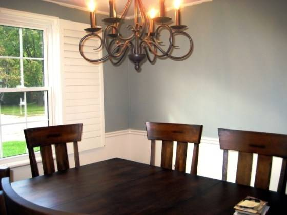 chair rail molding divides pleasing dining room two tone paint ideas how to pull off twotoned