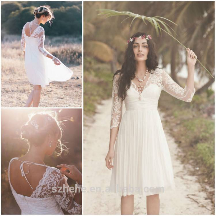 flowing plus size beach wedding dress