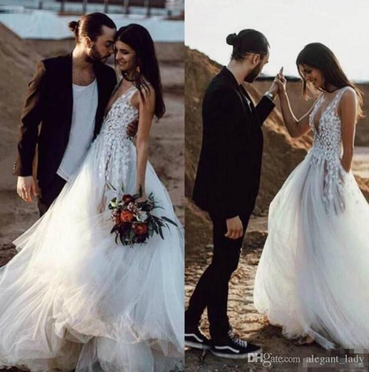 Discount High Low Wedding Dresses 2018 Full Lace Strapless Backless Summer  Holiday Beach Garden Bridal Reception Dress Cheap Wedding Dress Styles  Backless