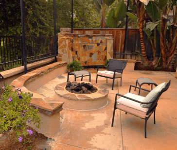 This time of year makes the most sense to have a fire pit in your backyard  or outdoor living area