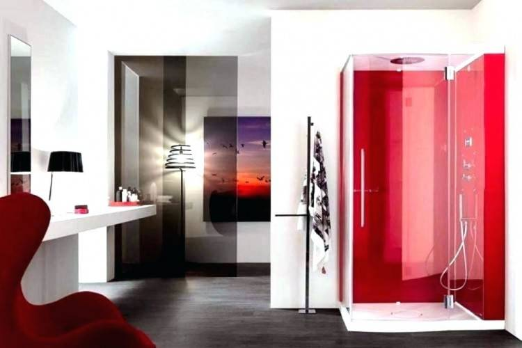 red and black bathroom ideas