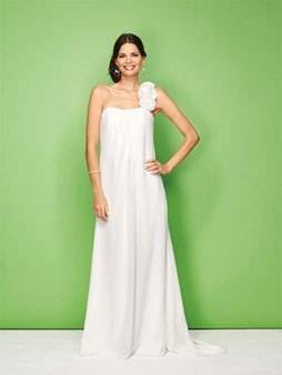 Different styles of wedding dresses made in modern flat style