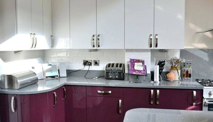 purple and green kitchen ideas