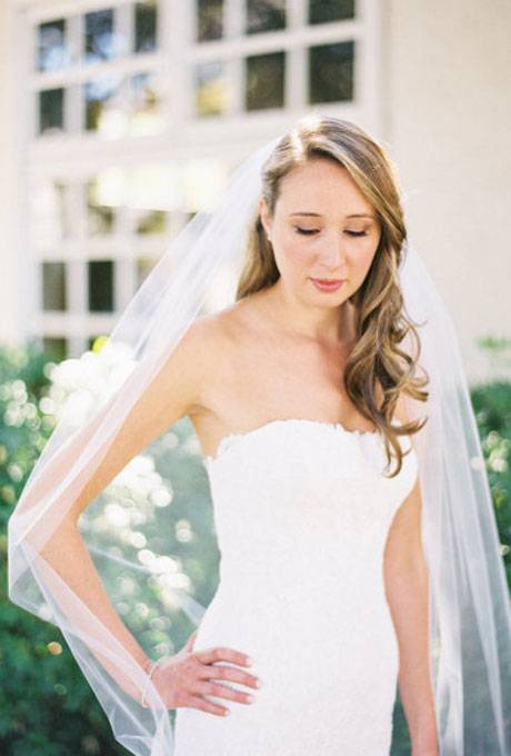 Advice Wedding Hairstyles Veil Underneath 21 Gorgeous Wedding Dresses  From $100 to $1 000 Glamour