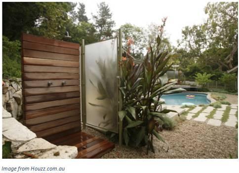 outdoor shower copper fixtures showers