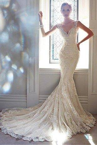 Vintage Style 2014 Lace Wedding Dresses Cap Sleeve Scoop Neck Zip Back  Court Train Ivory Lace Elegant Bridal Gowns Custom Made W563 The Perfect  Wedding