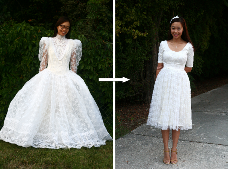 Vintage Style Romantic Gown Floral Lace Dress