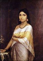 Painted by Raja Ravi Varma, c