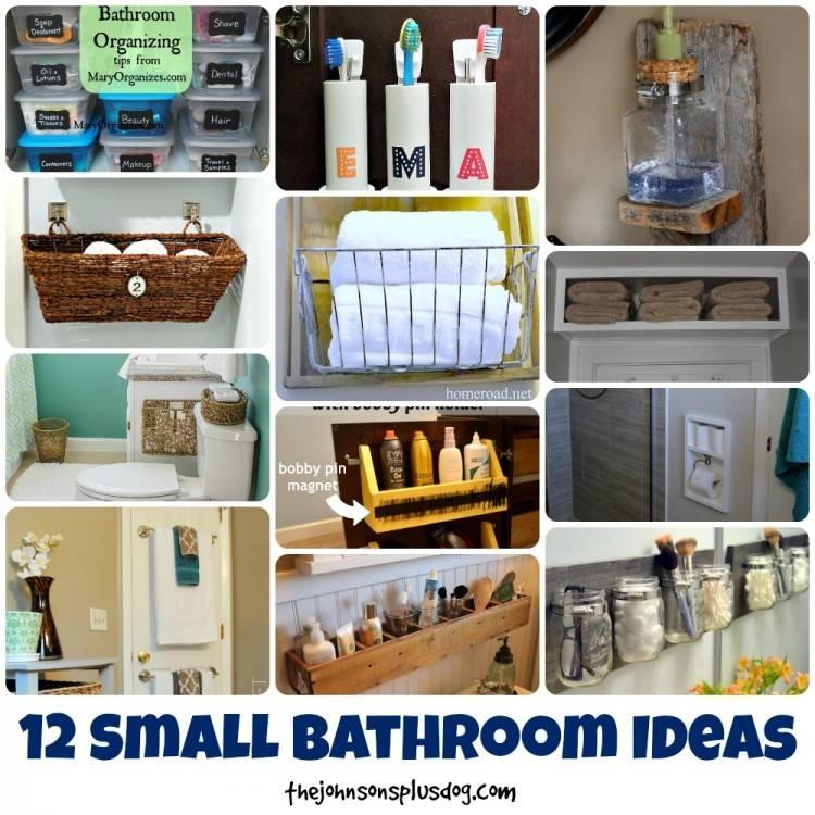 Apartment Closet Organization · Small  Bathroom Organization