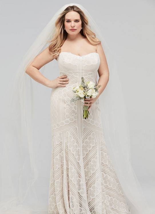Strap wedding dress with ruffle mermaid skirt by Isabelle Armstrong