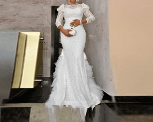 White Ball Gown Satin Empire Waist African Wedding Dresses Styles Nigeria 2019 New Cheap Vestido De Casamento Bridal Gowns India Corset Ball Gown Wedding