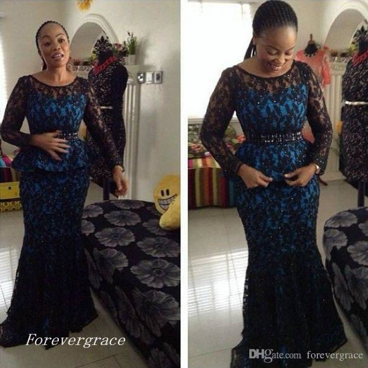 Maternity Dresses For Wedding Guest Unique 2016 African Fashion Evening  Dresses Jewel Neck 1 2 Sleeve