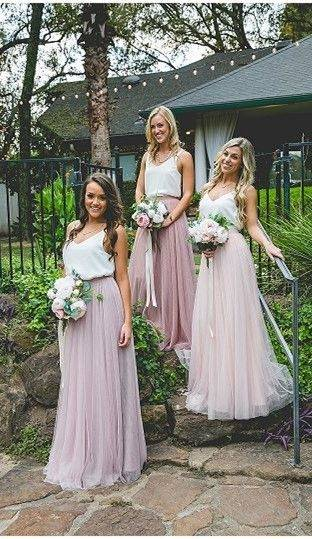 Dusty Pink Country Style Bridesmaid Dresses 2019 Halter Mermaid Long Maid  Of Honor Gowns Lace Appliques Elegant Formal Wedding Party Dresses Gray  Bridesmaid