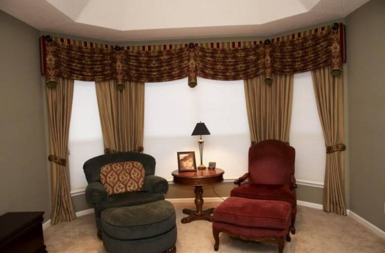 valances for bay windows window curtain ideas