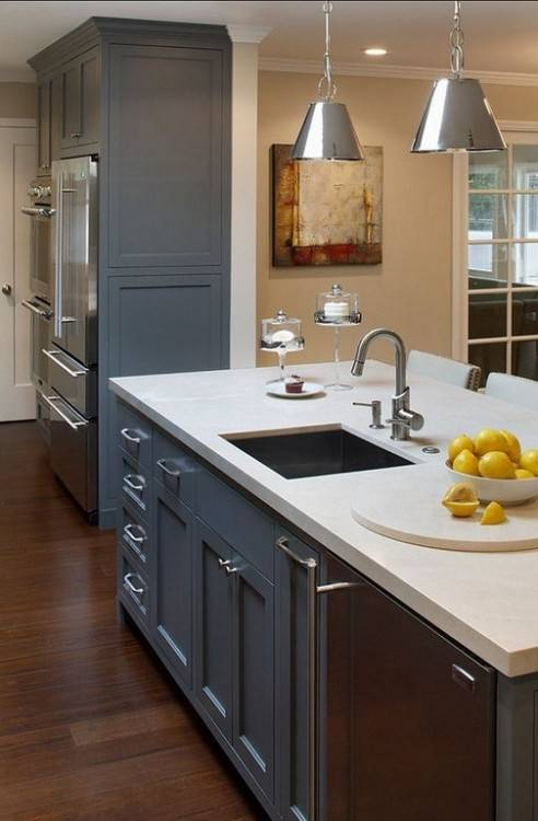 Acrylic strength, durability and the elegant look is what makes acrylic one  of the most popular kitchen cabinets materials