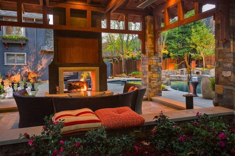 A screened in porch can be used as a three season porch for an indoor and outdoor feel