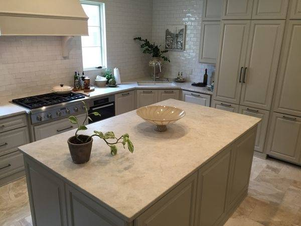 Further, decorating kitchen with  quartzite