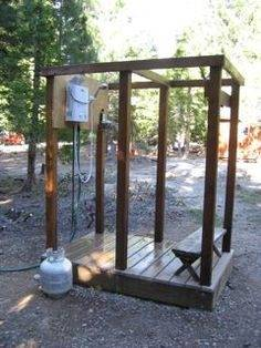 outdoor shower drainage easy assembly installation instructions requirements simple ideas baby homemade showers cont