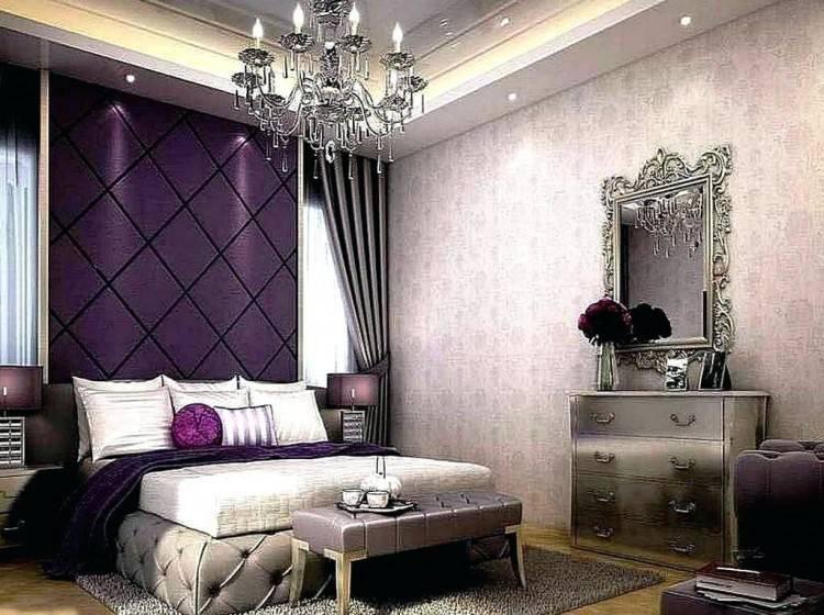 grey bedroom soft soothing purple