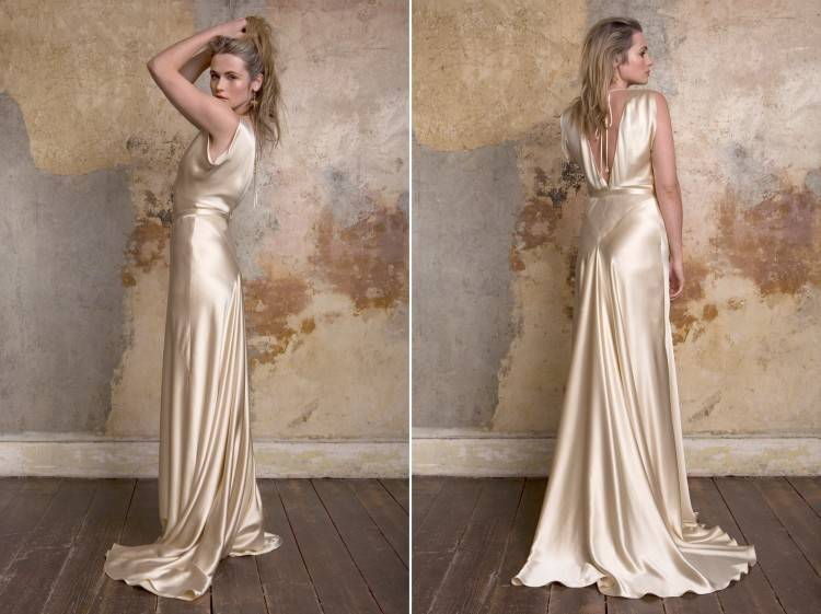 Jazz Age style wedding gowns from David's Bridal
